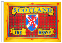 "Scotland The Brave Tartan 18"" x 12"" (45cm x 30cm) Sleeved Boat Flag"